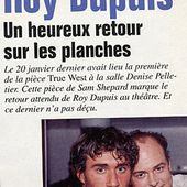 1994/01 - True West - ROY DUPUIS EUROPE