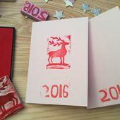 DIY - Créer des tampons cartes de vœux.#3 Le renne. - Blogdesignkatio