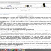 """2004 : """"Avenir du MRAP"""". Textes de l'opposition d'alors. - Repères contre le racisme, pour la diversité et la solidarité internationale"""
