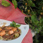 Nouilles soba sautées au chou de printemps - Vietnam (2) La baie d' Along - Les petits plats de Béa