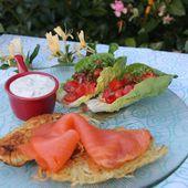 Plenzes et saumon fumé - Les petits plats de Béa