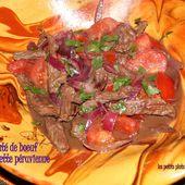 Sauté de boeuf aux oignons rouges recette péruvienne - Pérou (3) le Machu Picchu et les Salines de Maras - Les petits plats de Béa