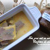 Foie gras cuit au micro ondes et confiture de chicons - Les petits plats de Béa