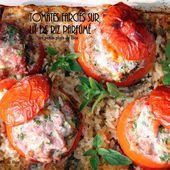 Tomates farcies sur lit de riz parfumé - Les petits plats de Béa