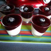 Panacotta à la vanille et son coulis de prunes rouges - MéliMélFlo