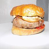 Hamburger bacon boeuf dukan - La cuisine de Fanie