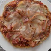 Pizza jambon bacon dukan - La cuisine de Fanie