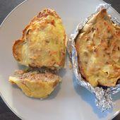 Quiche au saumon en coquille de pain dukan - La cuisine de Fanie