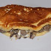 Omelette soufflée boulettes et champignons dukan - La cuisine de Fanie