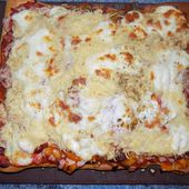 Maxi-pizza chorizo/poivrons - La cuisine de Fanie