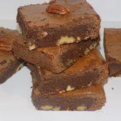 Brownies chocolat/noix de pécan et nougatine - La cuisine de Fanie