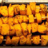 Brochettes de courge butternut dukan - La cuisine de Fanie