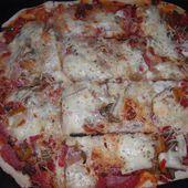 Pizza jambon/chorizo raclette - La cuisine de Fanie