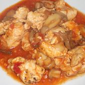 Poulet marengo Dukan - La cuisine de Fanie