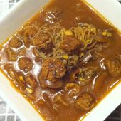 Bouillon thai aux boulettes de boeuf et konjac dukan - La cuisine de Fanie