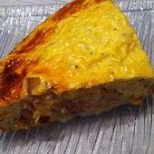Quiche saumon et champignons de Paris Dukan - La cuisine de Fanie