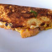 Crêpe saumon,oeuf et carré frais Dukan - La cuisine de Fanie