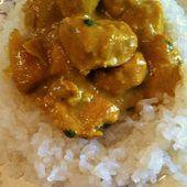 Curry de poulet korma dukan - La cuisine de Fanie