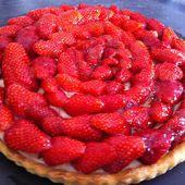 Tarte aux fraises gariguette au thermomix - La cuisine de Fanie