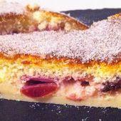 Gâteau magique aux cerises - La cuisine de Fanie