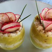 Verrines féroce d'avocat et miettes de crabe - La cuisine de Fanie