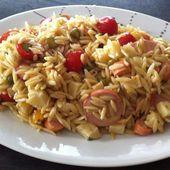 Salade d'avoines, cervelas, tomme de Savoie et radis roses - La cuisine de Fanie