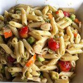 Salade composée avocat, pennes et surimi - La cuisine de Fanie