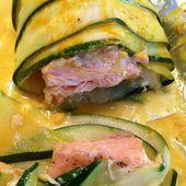 Ballotins de courgettes et saumon en papillote - thermomix - - La cuisine de Fanie