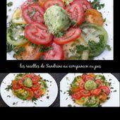 Sorbet concombre et sa salade de tomates colorées au companion - Les recettes de sandrine au companion ou pas