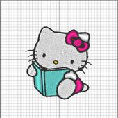 Broderie machine : Hello Kitty 1 - Laine-et-Chiffons