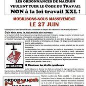 Appel du  27 juin contre les ordonnances Macron