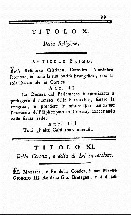Constitution du Royaume anglo-corse (1794-1796)