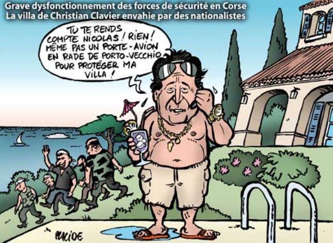 LES NATIONALISTES CORSES S'INVITENT CHEZ CCHRISTIAN CLAVIER.