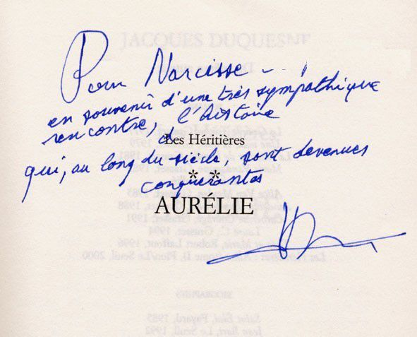 Jacques Duquesne : d'écriture !