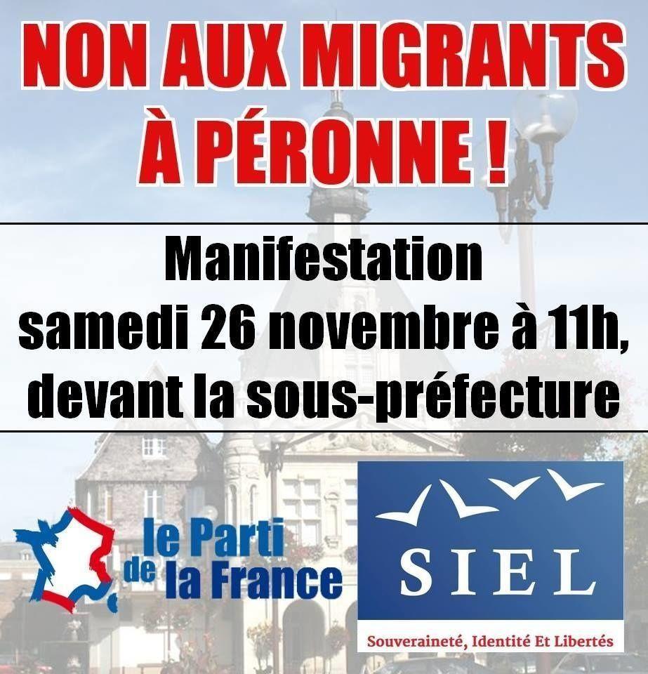 Manifestation anti-migrants à Péronne : c'est aujourd'hui !
