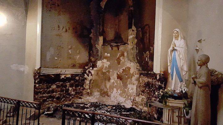 La crèche de Noël incendiée dans une église à Metz