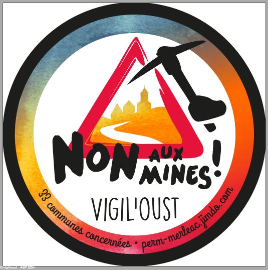 Logo de l'association Vigil'Oust qui réunit les opposants aux projets miniers en Centre Bretagne (source ABP)