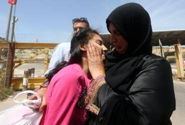 Moyen Orient, Palestine, Israël, Afrique. Libération de la plus jeune Palestinienne jamais emprisonnée en Israël