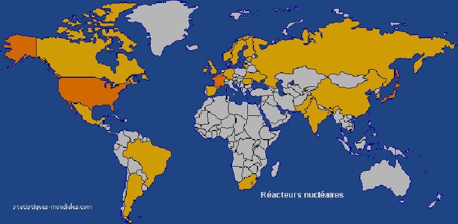 Russie, France, Europe, monde.  Réacteur nucléaire dans le monde. Tchernobyl Vidéo Tchernobyl.