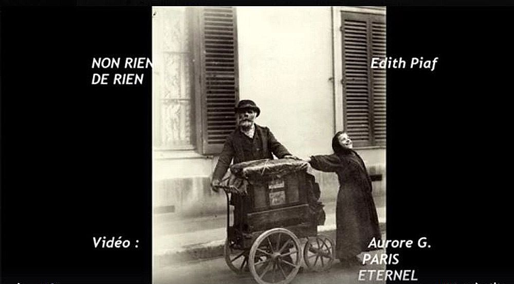 France. Divers - photo-Art.  Edith Piaf : Non je ne regrette rien.