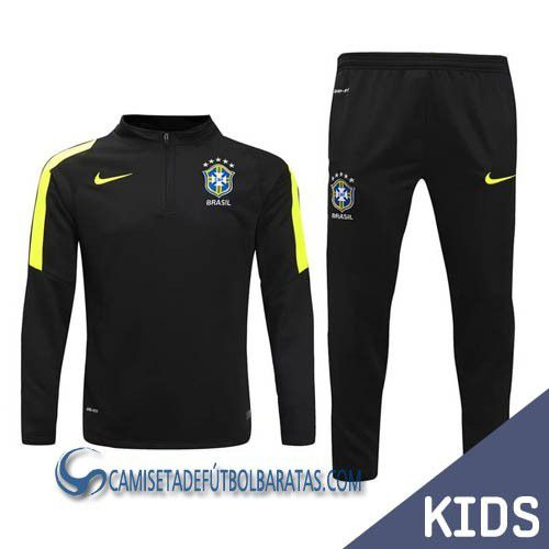 Chandal Nike de niño Brasil verde - Equipaciones de futbol baratas bf125f8fc0a2b