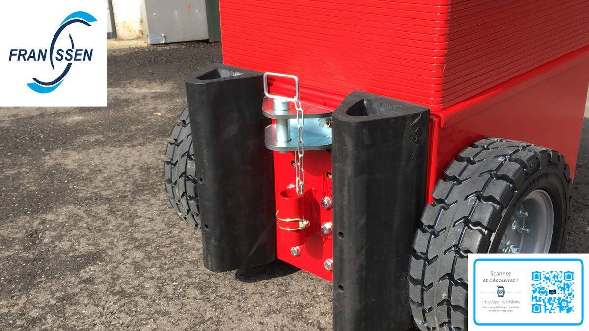 Tracteur Tireur Pousseur 100% électrique pour manutention professionnelle et aide : Franssen Remorques vous présente le MULTI-MOVER
