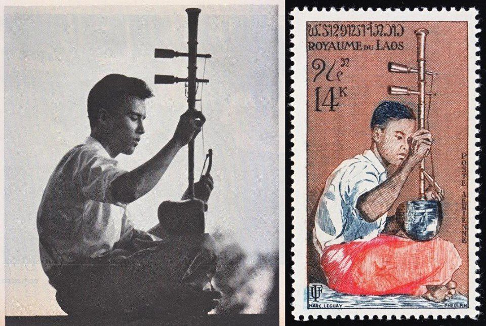 Marc Leguay, the painter of Laos and art on stamps