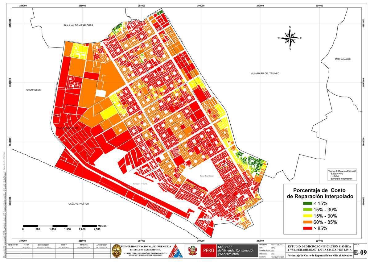 Nuevos barrios lima p rou corps corps urbains for Plano de villa el salvador