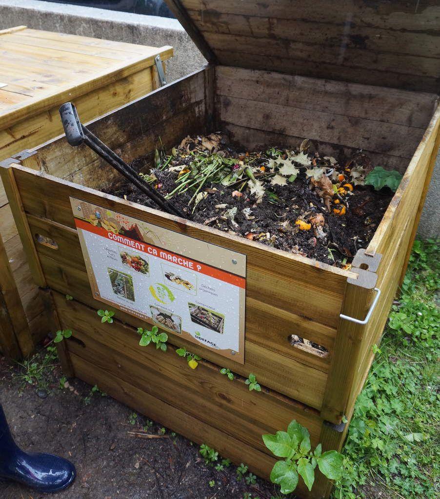 Démonstration du compost de la résidence Green Park