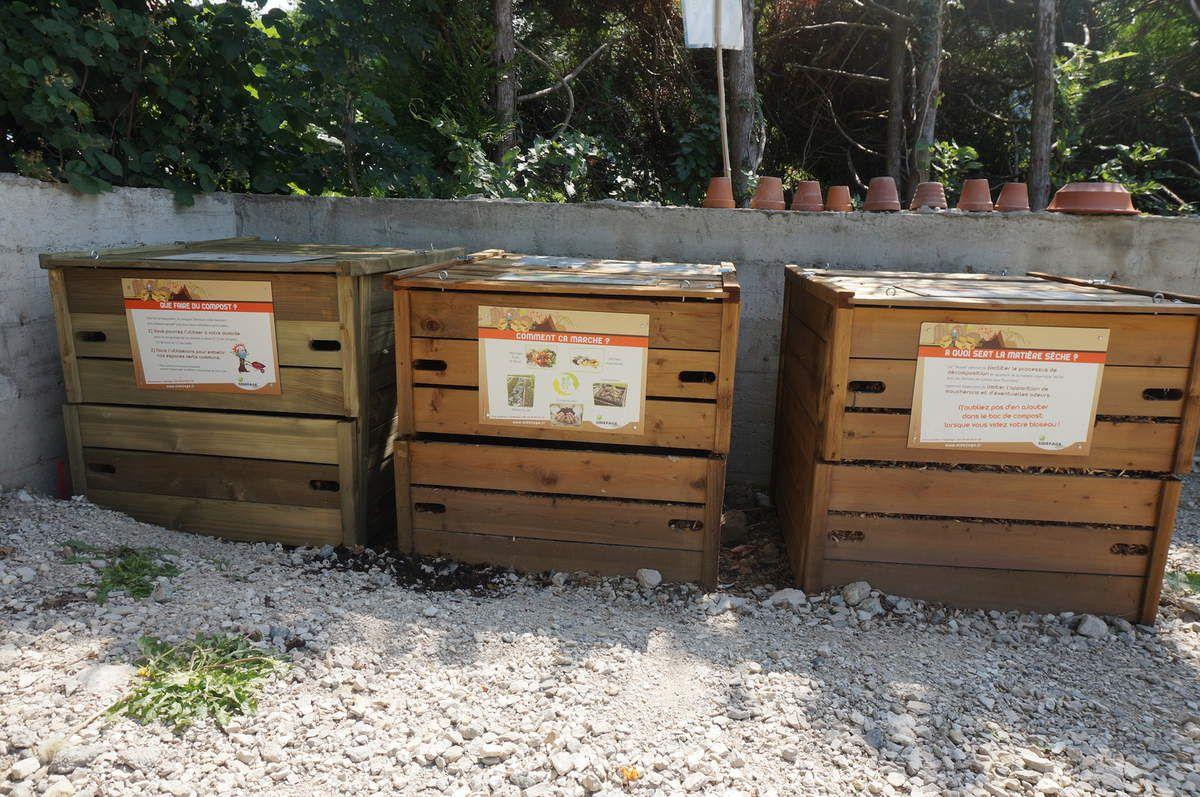 Compost collectif du Fer-à-Cheval, géré par Salève Vivant