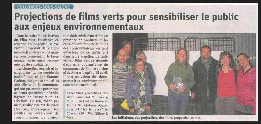 Article du Dauphiné, 21 mars 2019