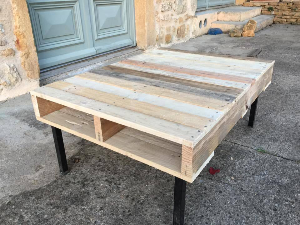 Table basse en palette de recup - Table salon en palette bois ...