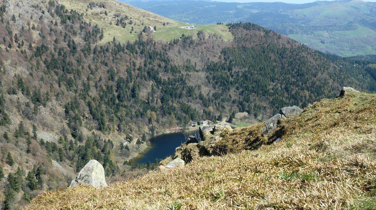 La vue sur le Lac du Schiessrothried, le Hohneck est absolument remarquable.