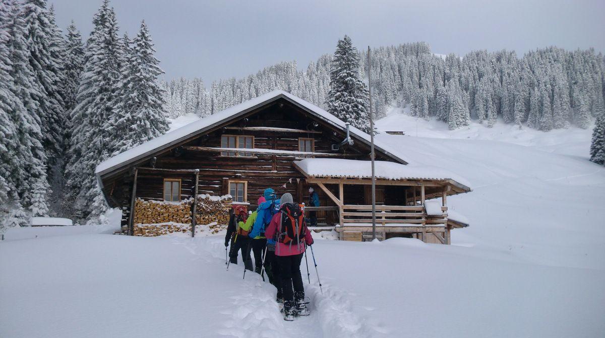 Et nous arrivons à la ferme d'altitude au Teuftal (1520 m).